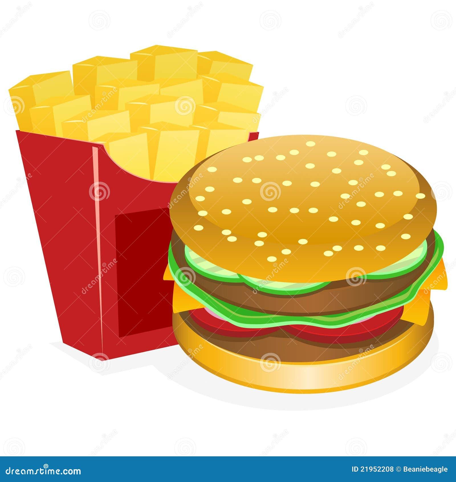 Hamburger and fries royalty free stock photos image for Hamburger clipart