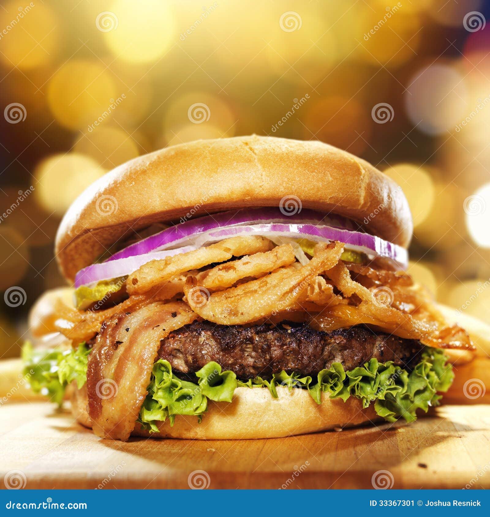Hamburger gastronomico del bacon