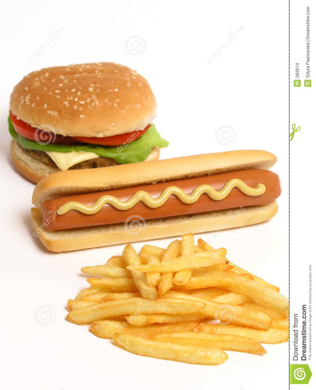 hamburger hot dog and french fries stock photo image of lunch french 262614. Black Bedroom Furniture Sets. Home Design Ideas