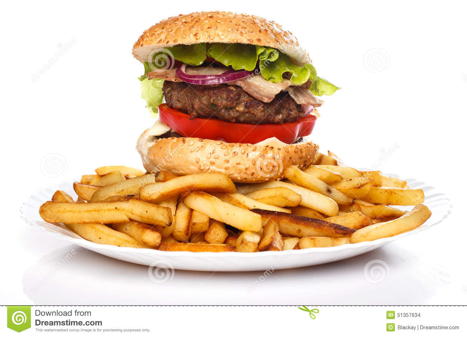 Hamburger i dłoniaki