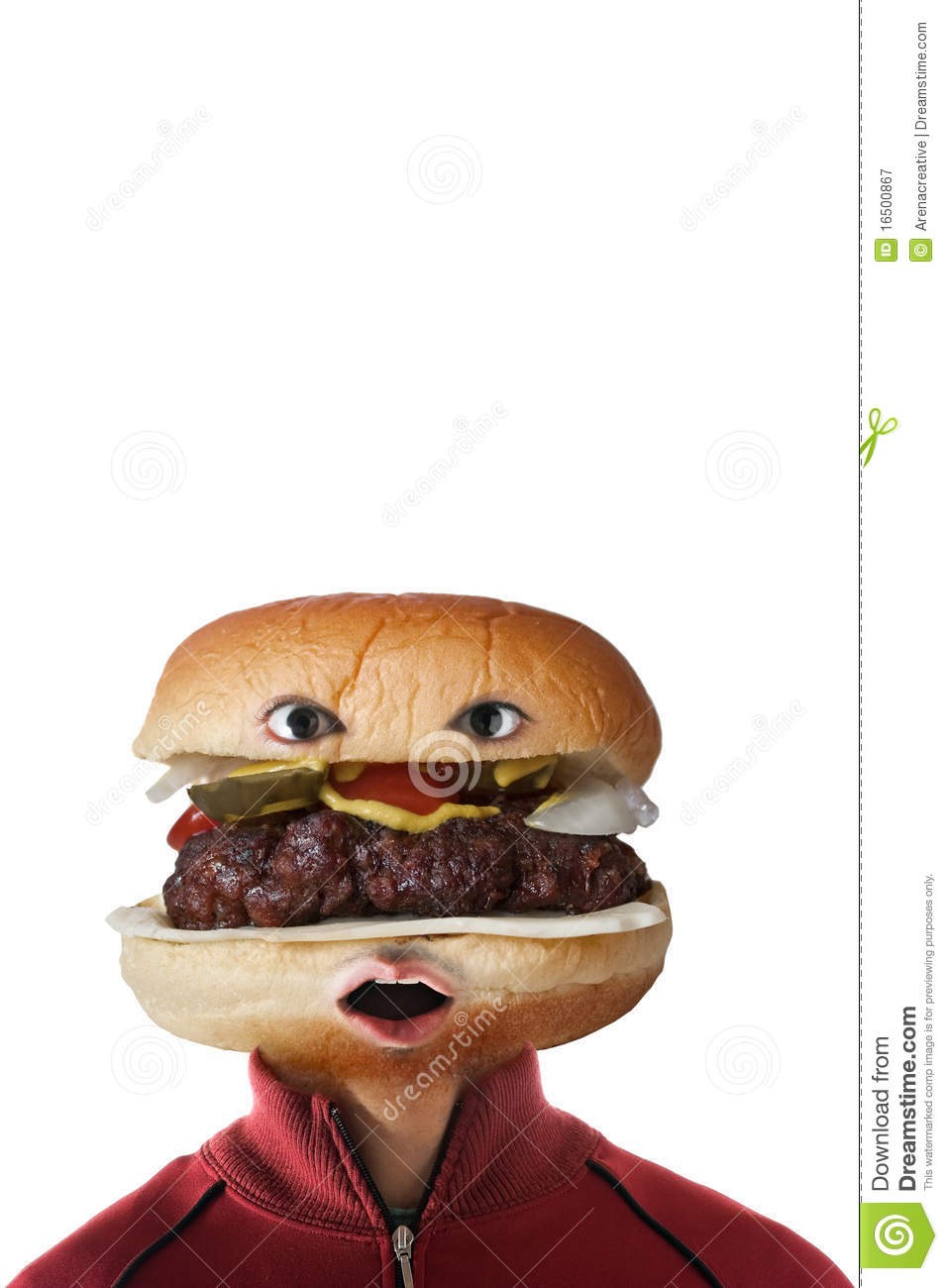 hamburger head