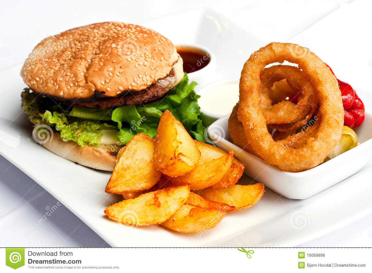 Hamburger Meal Royalty Free Stock Image  Image: 16069896
