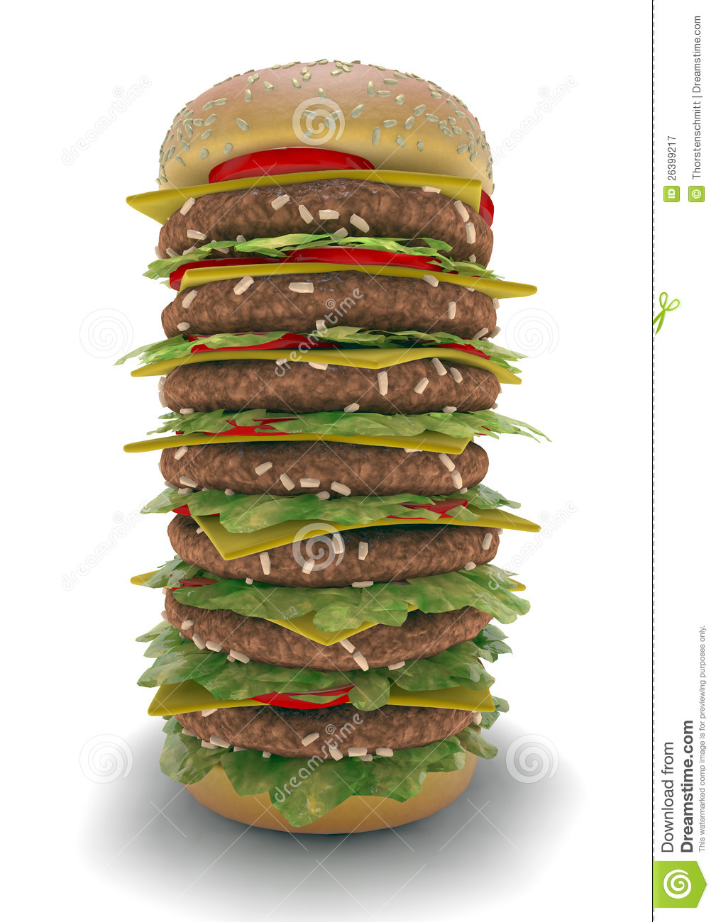 Hamburger Meal XXL Royalty Free Stock Photography  Image: 26399217