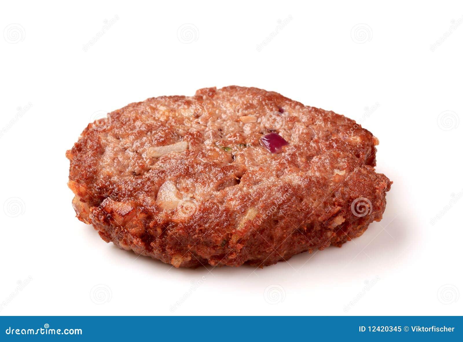Hamburger patty stock image. Image of ground, hamburger ...