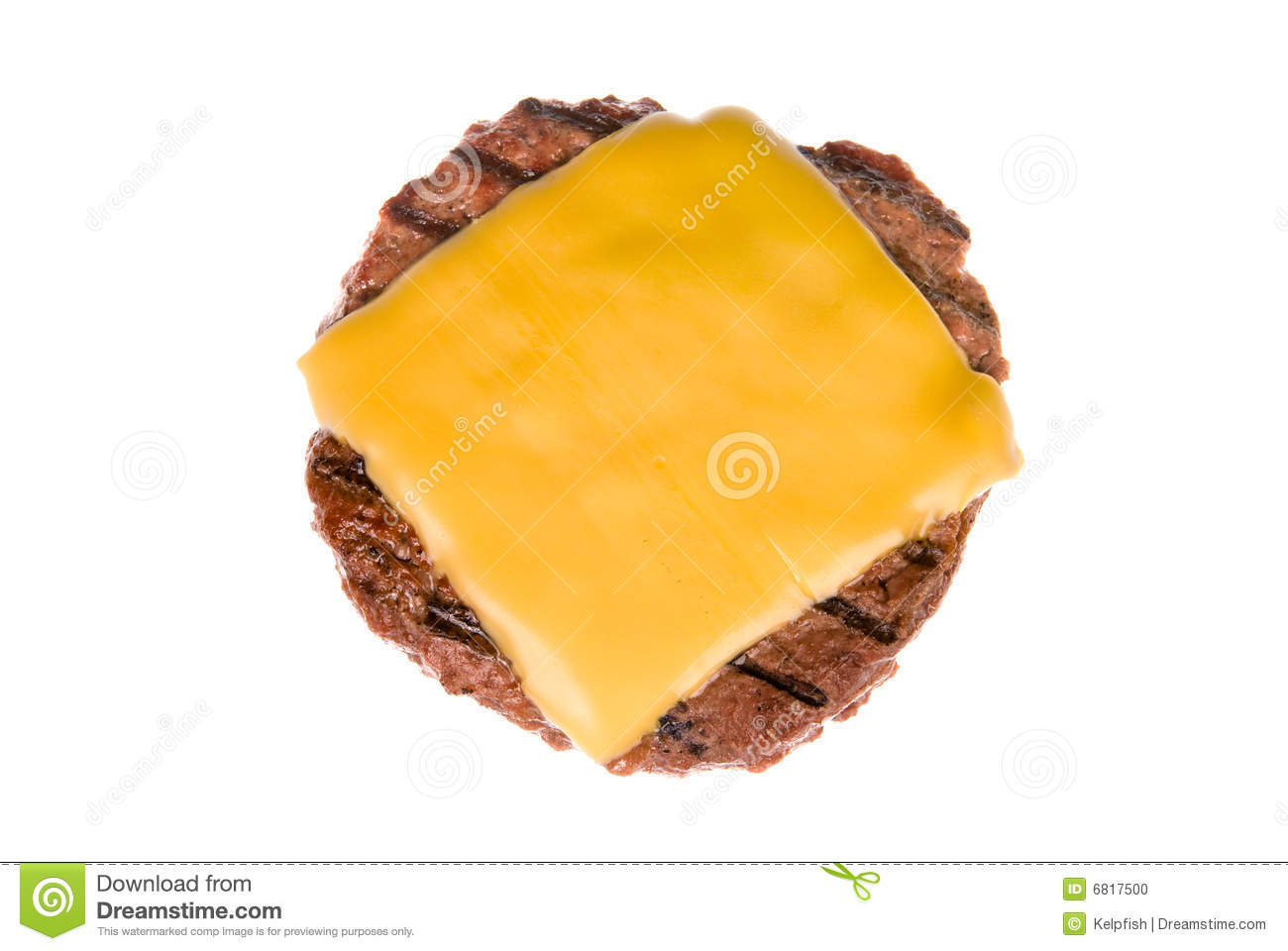beef patty with cheese