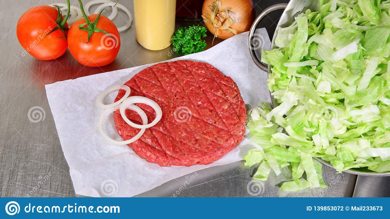 Hamburger Patty - Fast Food