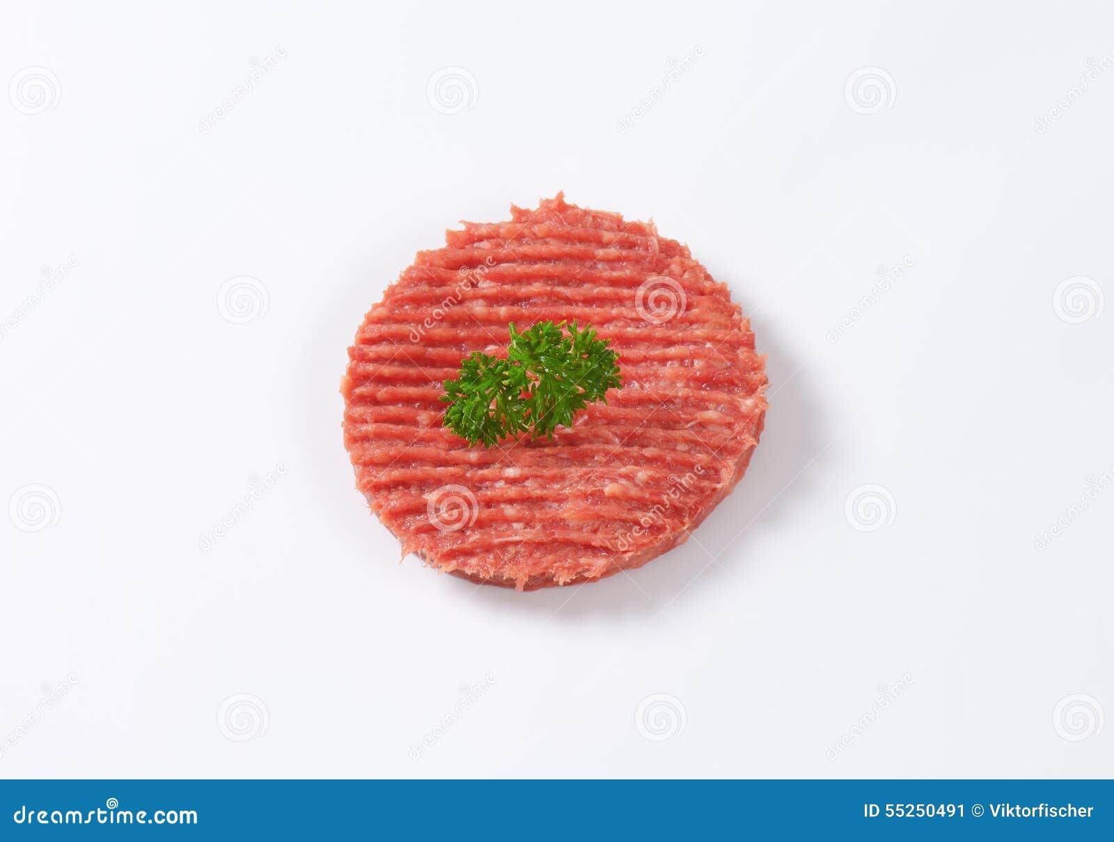 Hamburger single patty