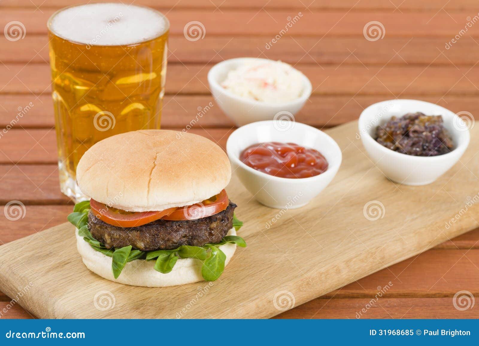Hamburger & piwo