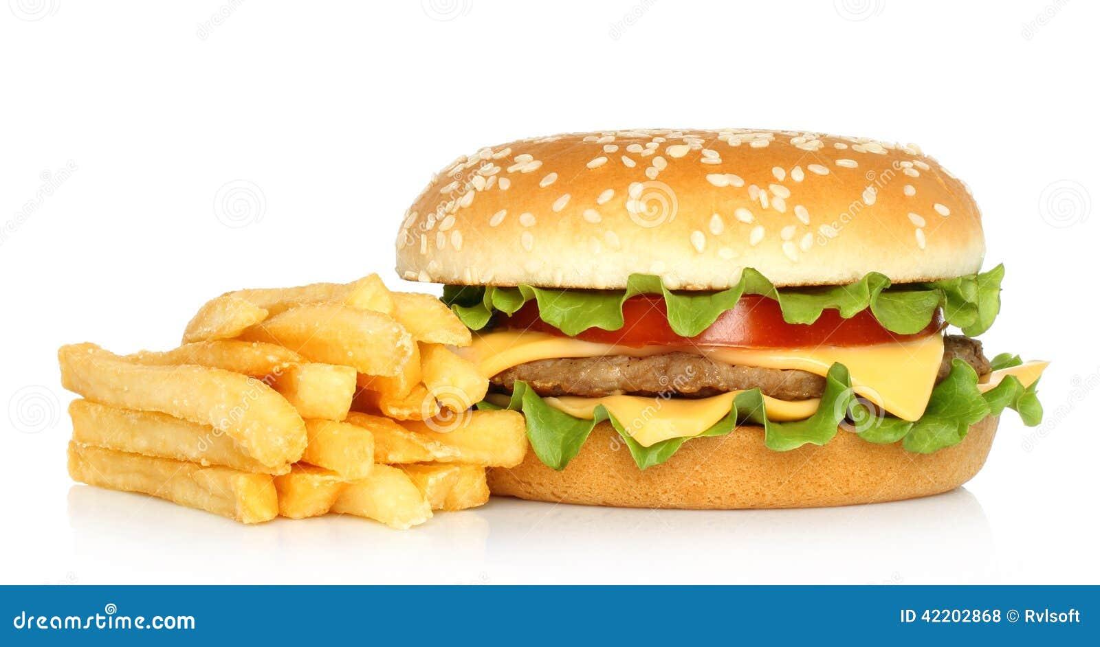Hamburger And Potato Free Stock Photo