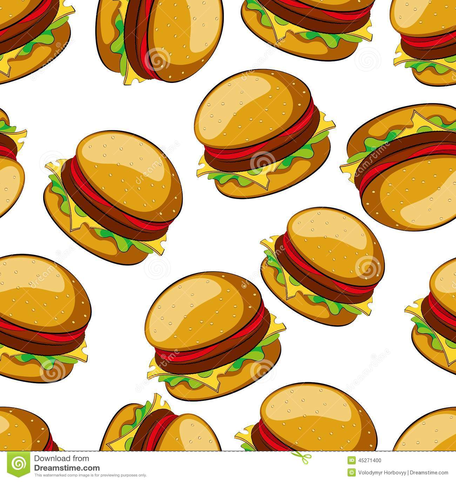 Hamburger Stock Vector - Image: 45271400