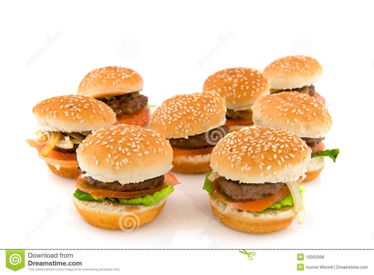 Hamburgers Royalty Free Stock Photos - Image: 10393398