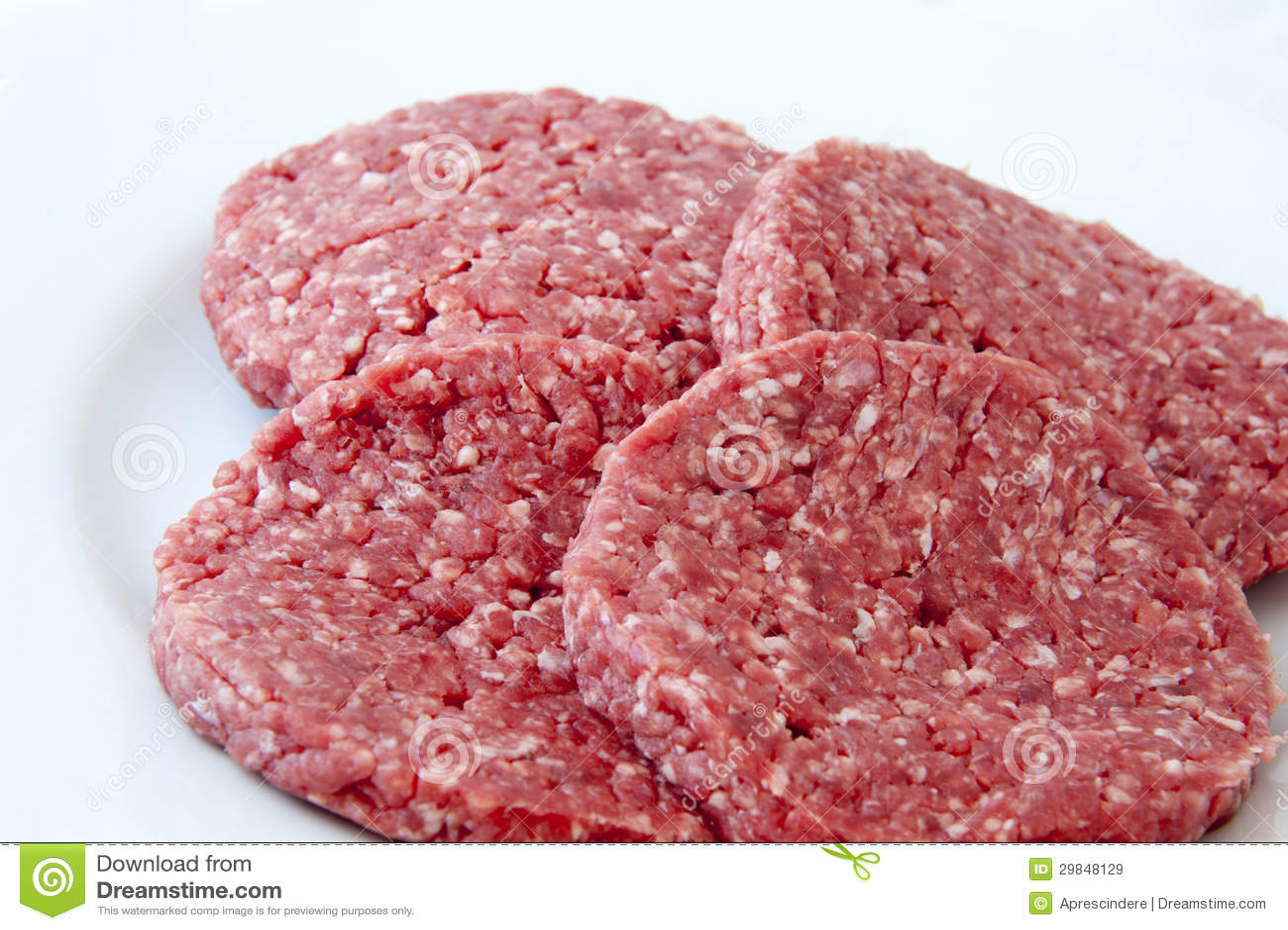 Hamburgers crus de boeuf