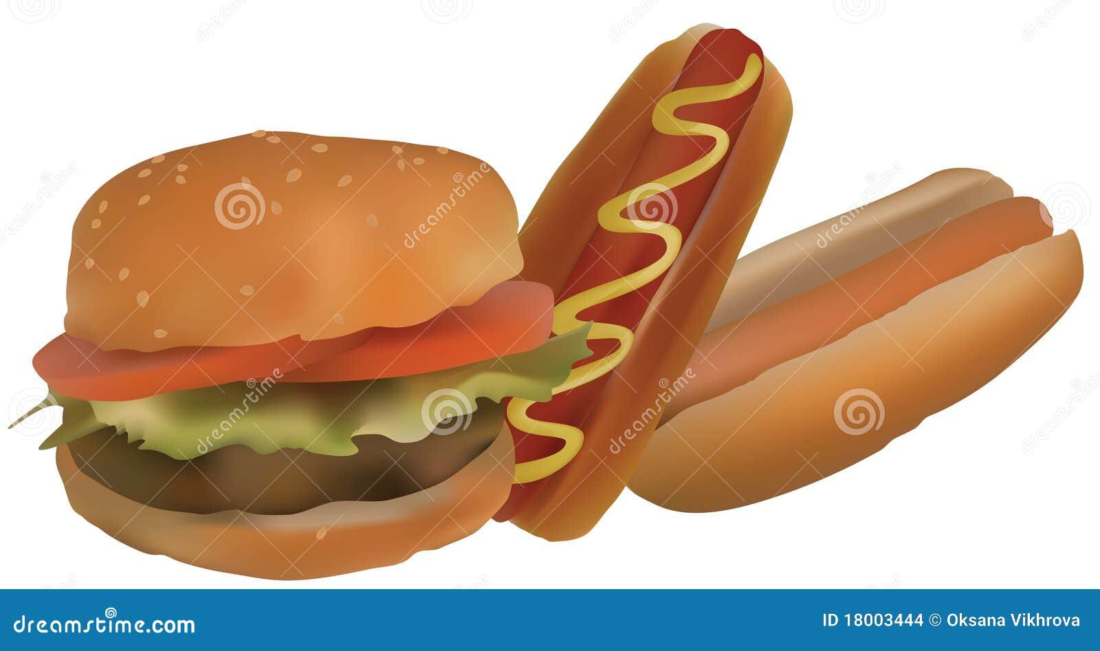 Hamburgers And Hot Dog...