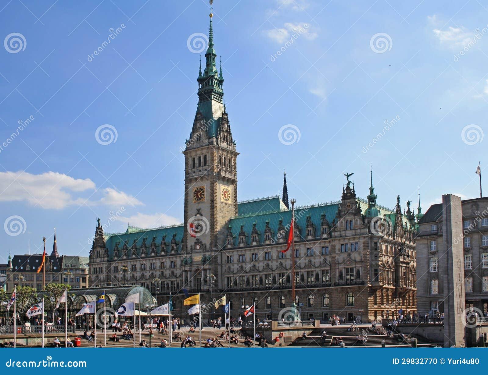 Câmara municipal em Hamburgo