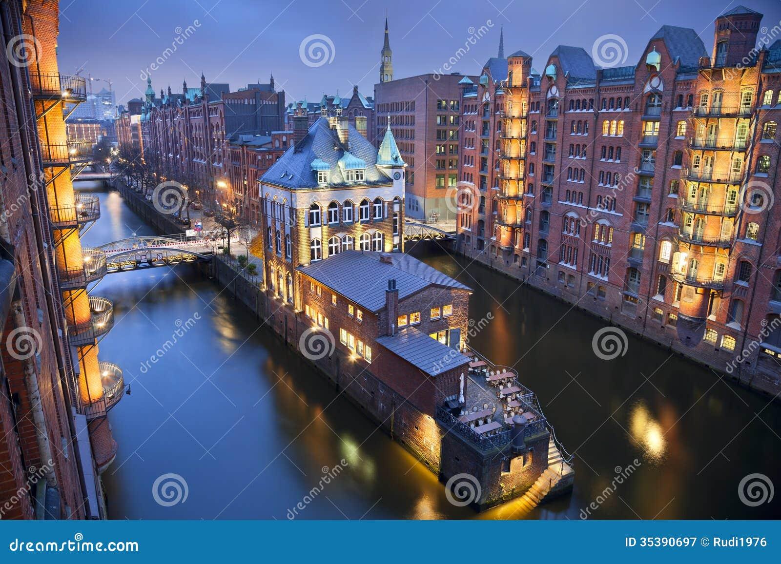 Hamburgo Speicherstadt.