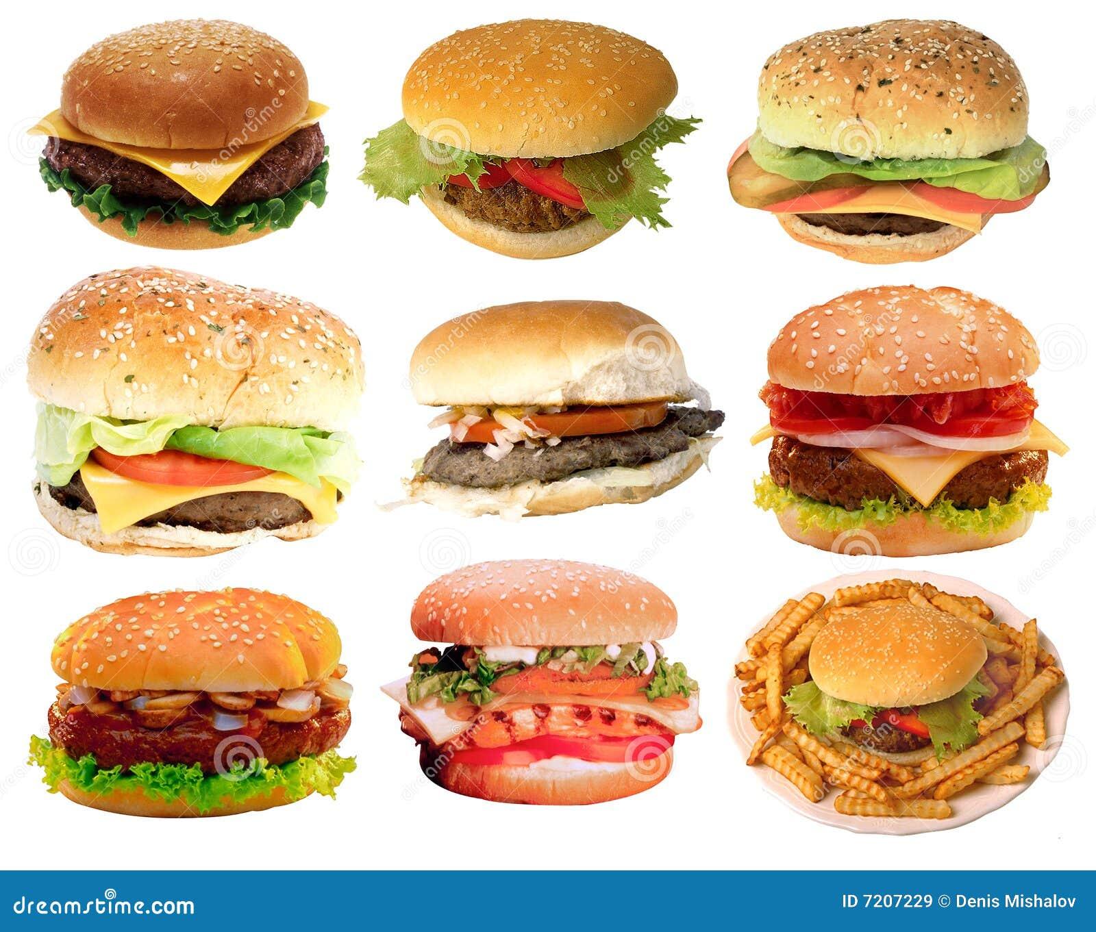 Hamburgueres saborosos, fast food