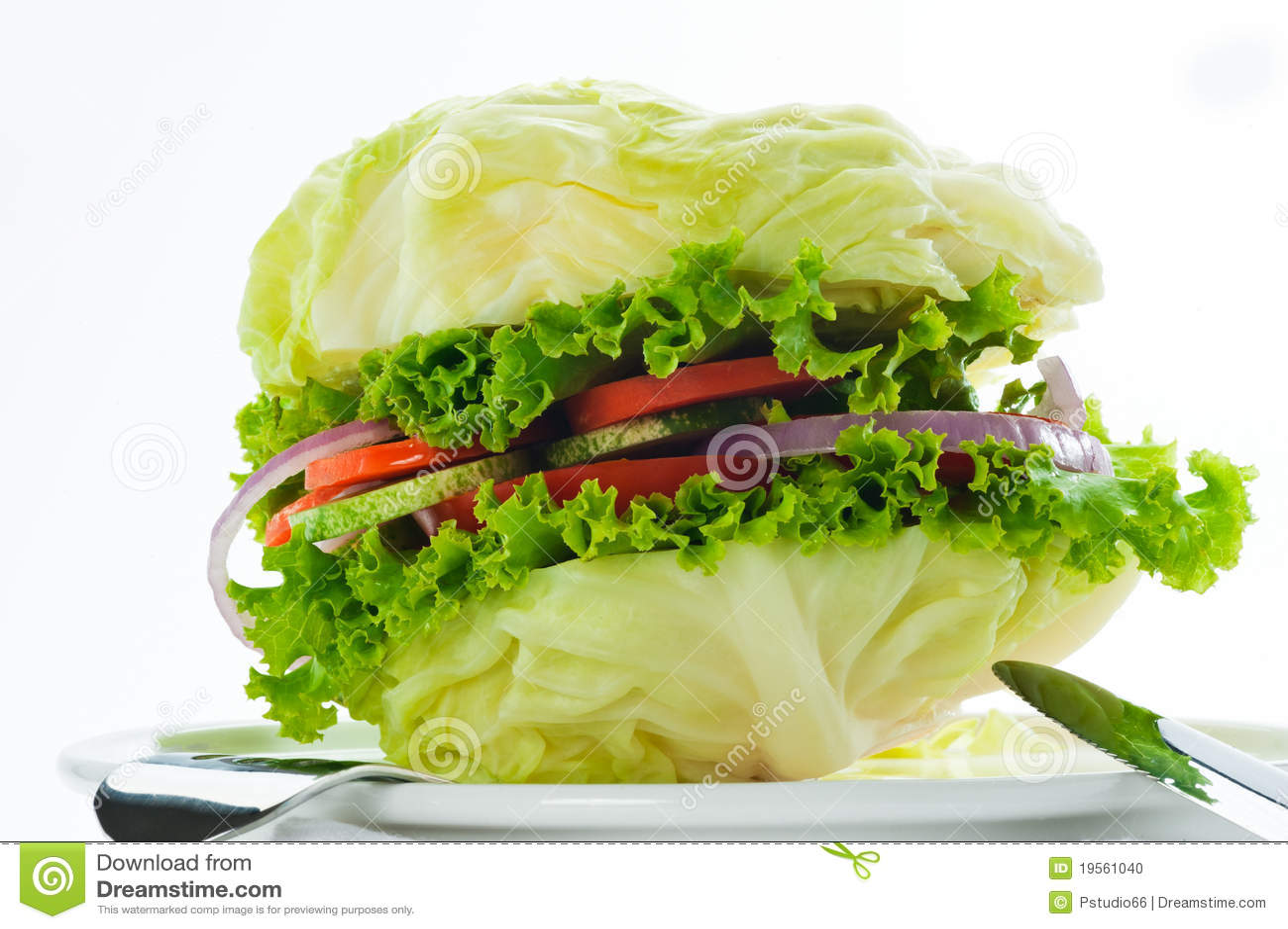 Hamburguesa vegetariana foto de archivo imagen 19561040 - Hacer hamburguesas vegetarianas ...