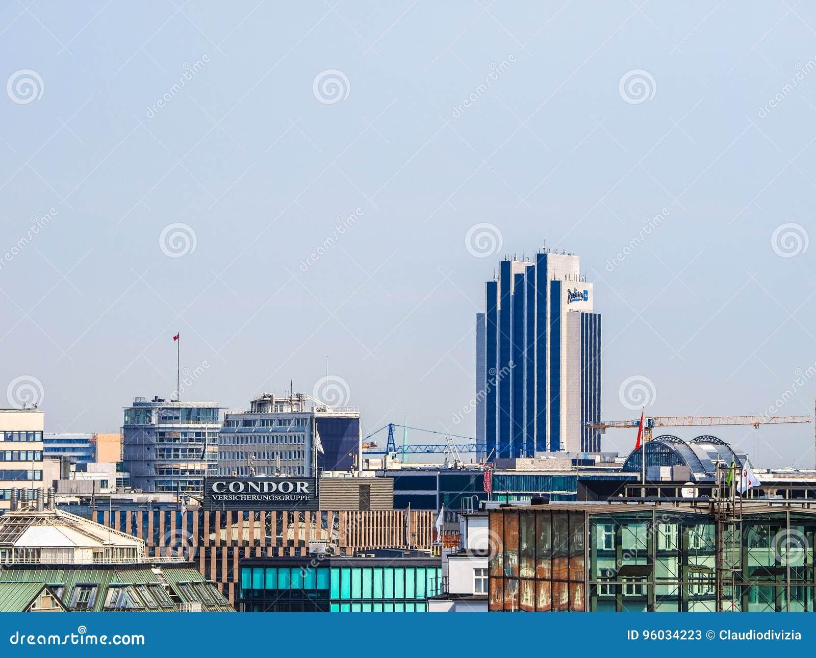 Hamburski linia horyzontu widoku hdr