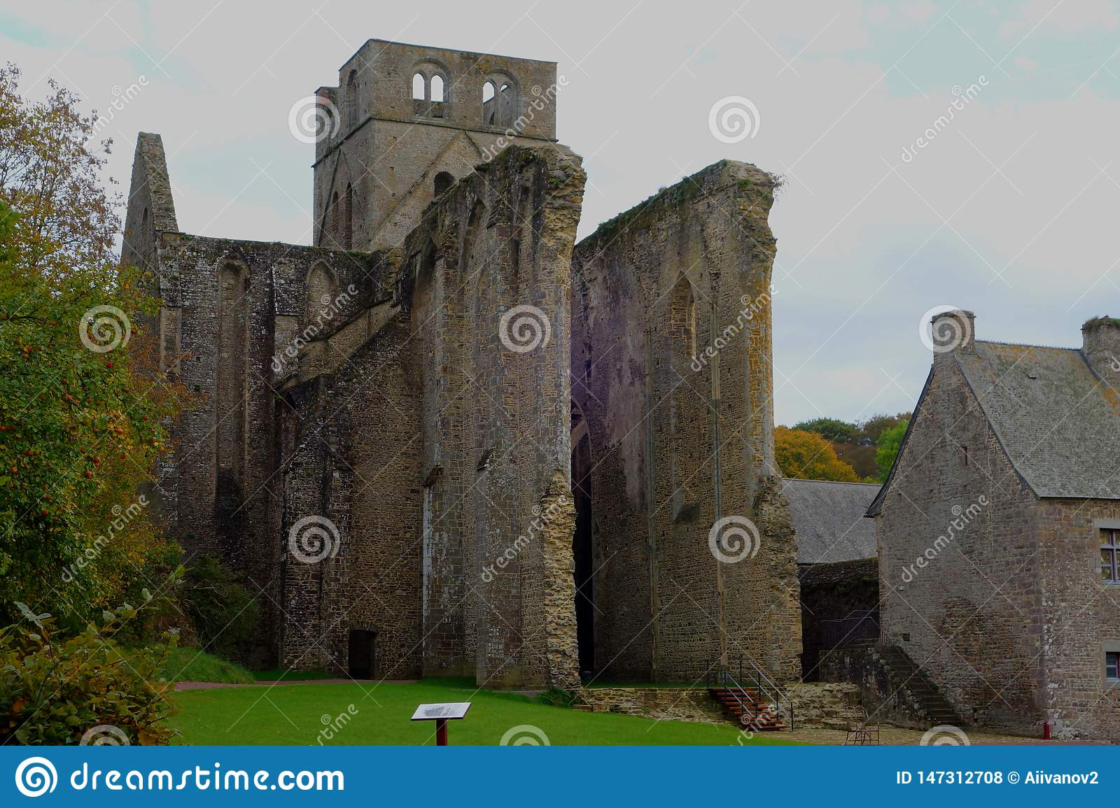 Ruins of the medieval Hambye Abbey