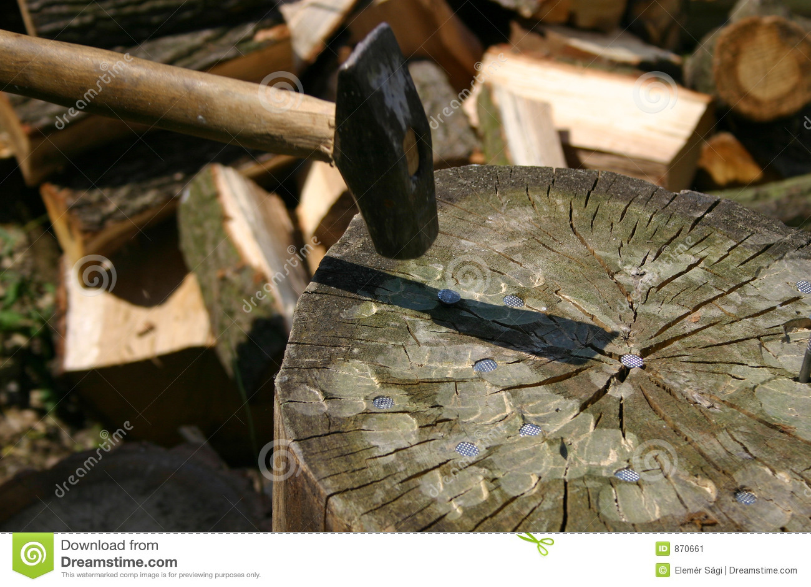 Hamer, spijkers, logboek
