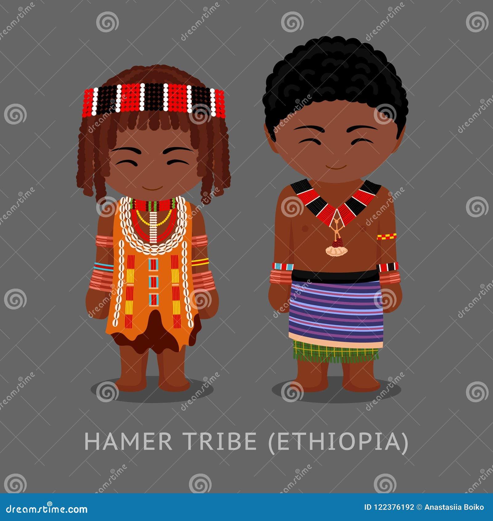 Hamer-Stamm im traditionellen Kostüm