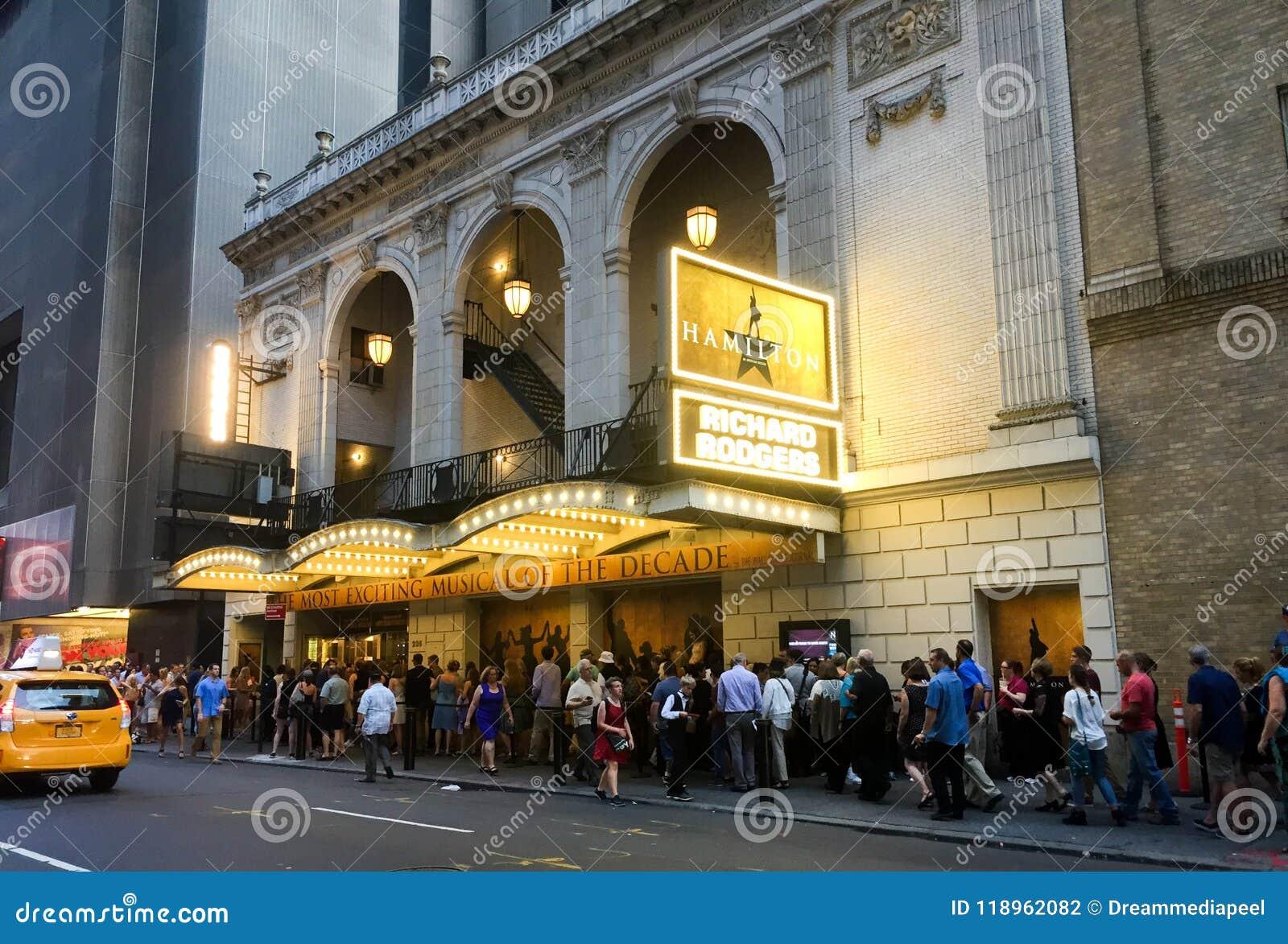 Hamilton at Richard Rogers Theater, New York City,NY
