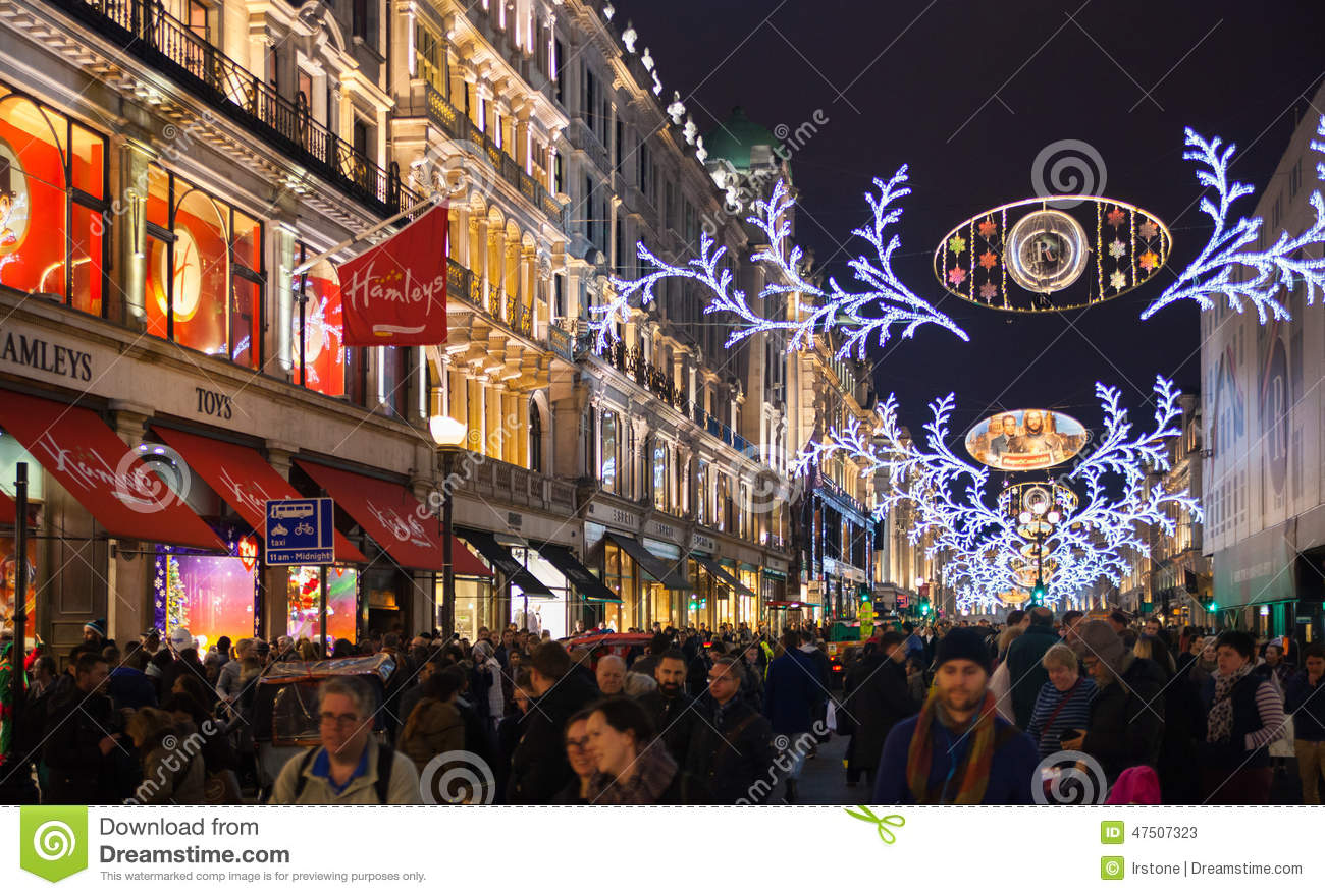 editorial stock photo - Christmas Lights Store