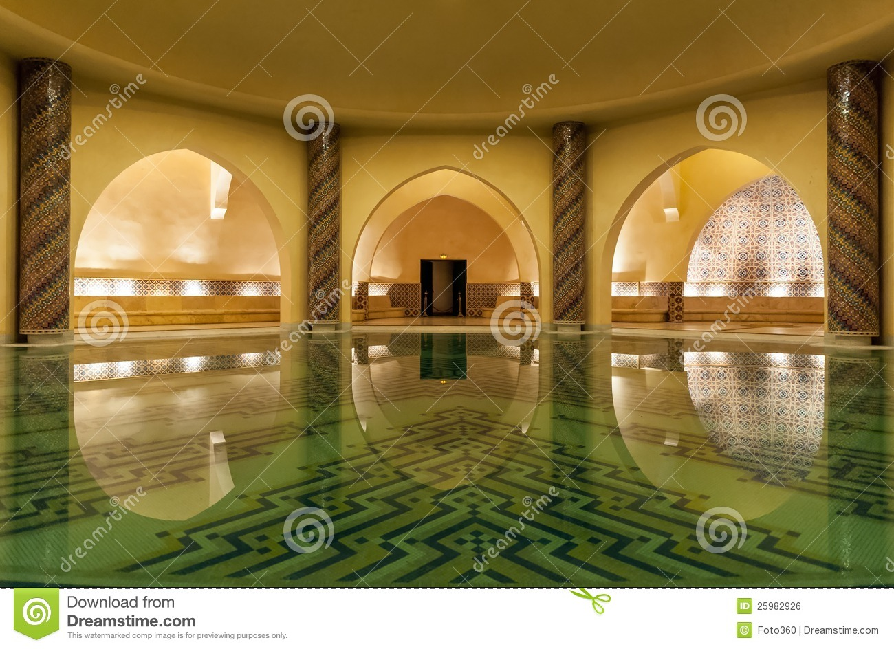 Hammam of hassan ii mosque in casablanca morocco stock for Mosquee hassan 2 architecture