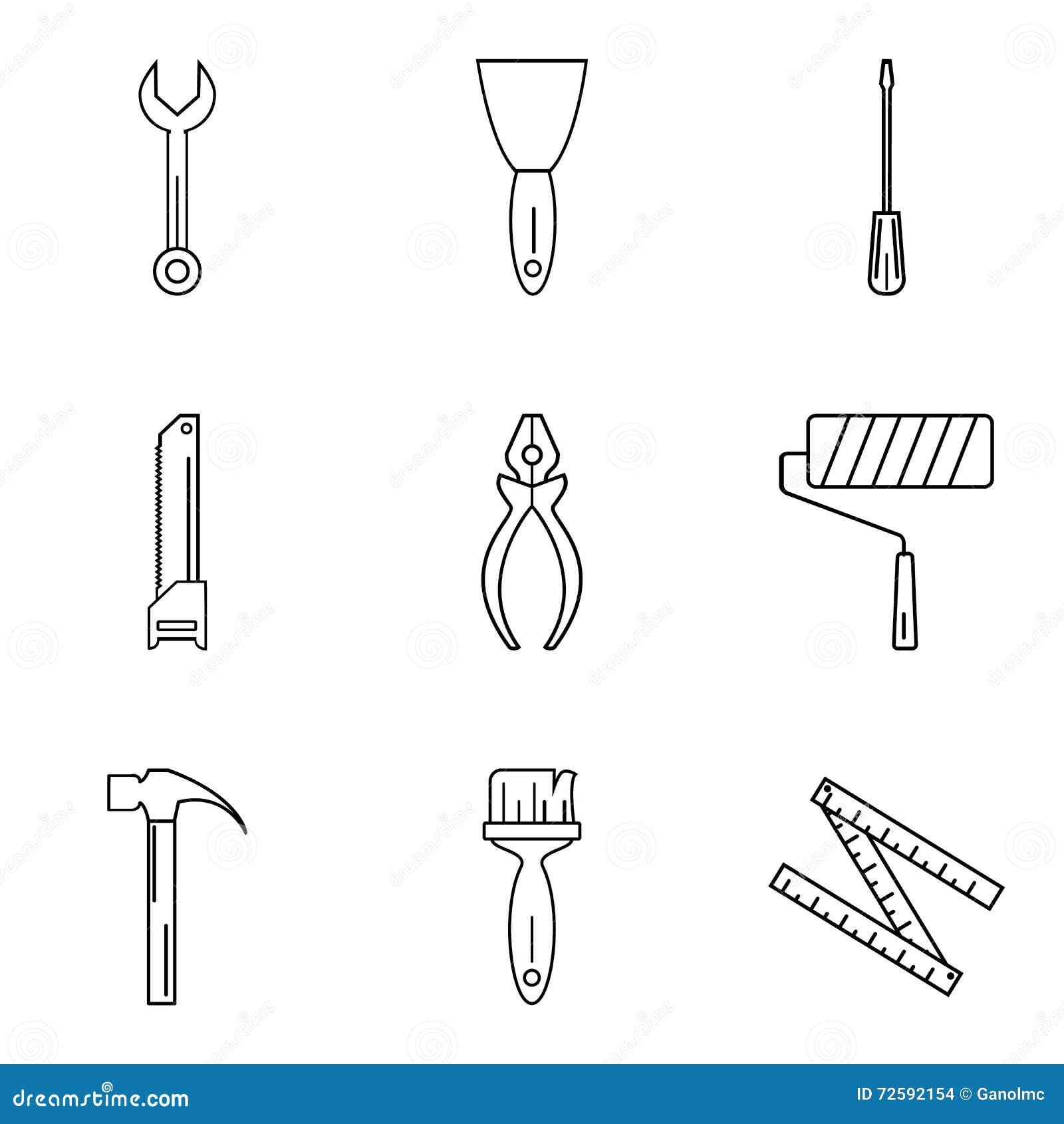 hammer auf dem fenster reparieren sie lineare ikonen karikatur polar mit herzen vektor abbildung. Black Bedroom Furniture Sets. Home Design Ideas