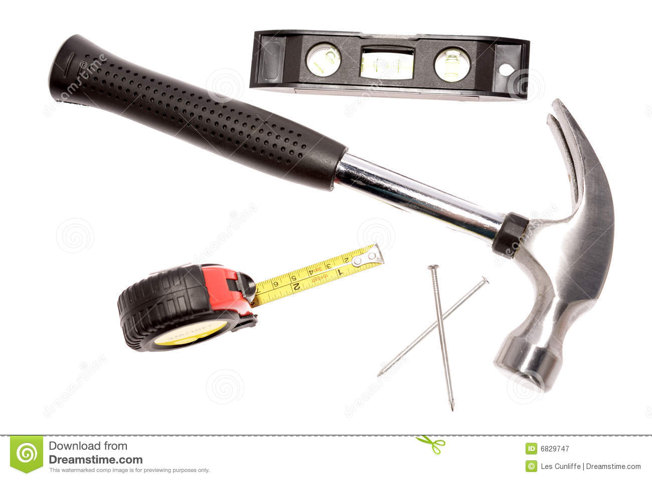 Hammer And Carpentry Tools Royalty Free Stock Photography - Image ...