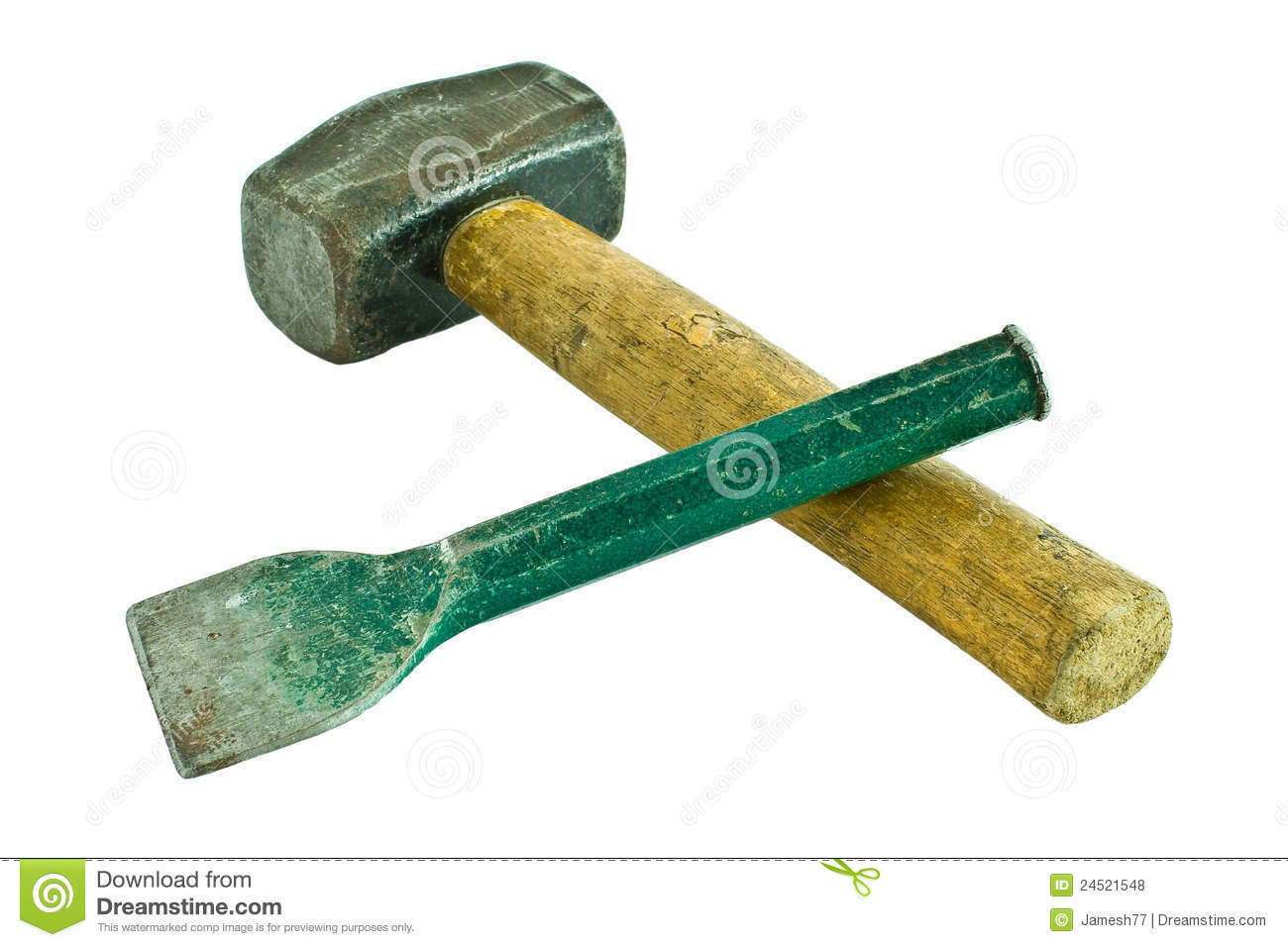 Hammer And Chisel Royalty Free Stock Photos - Image: 24521548