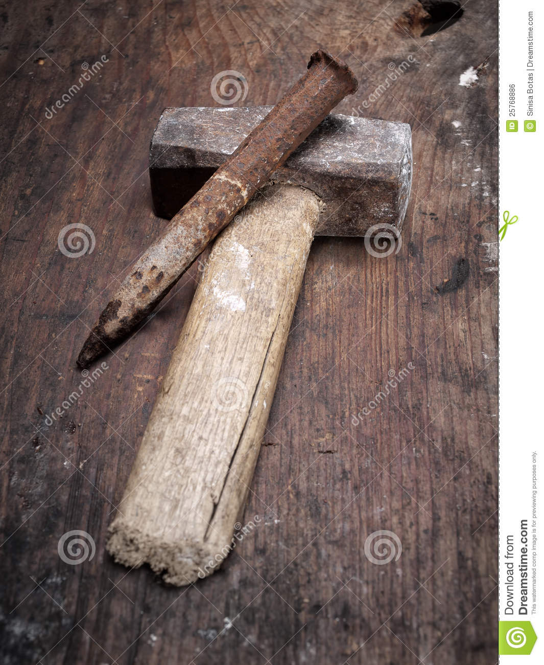 Hammer And Chisel Royalty Free Stock Image - Image: 25768886