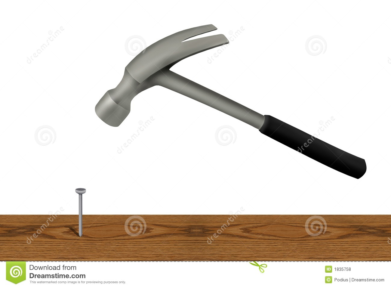 Hammer And Nail Royalty Free Stock Photos - Image: 1835758