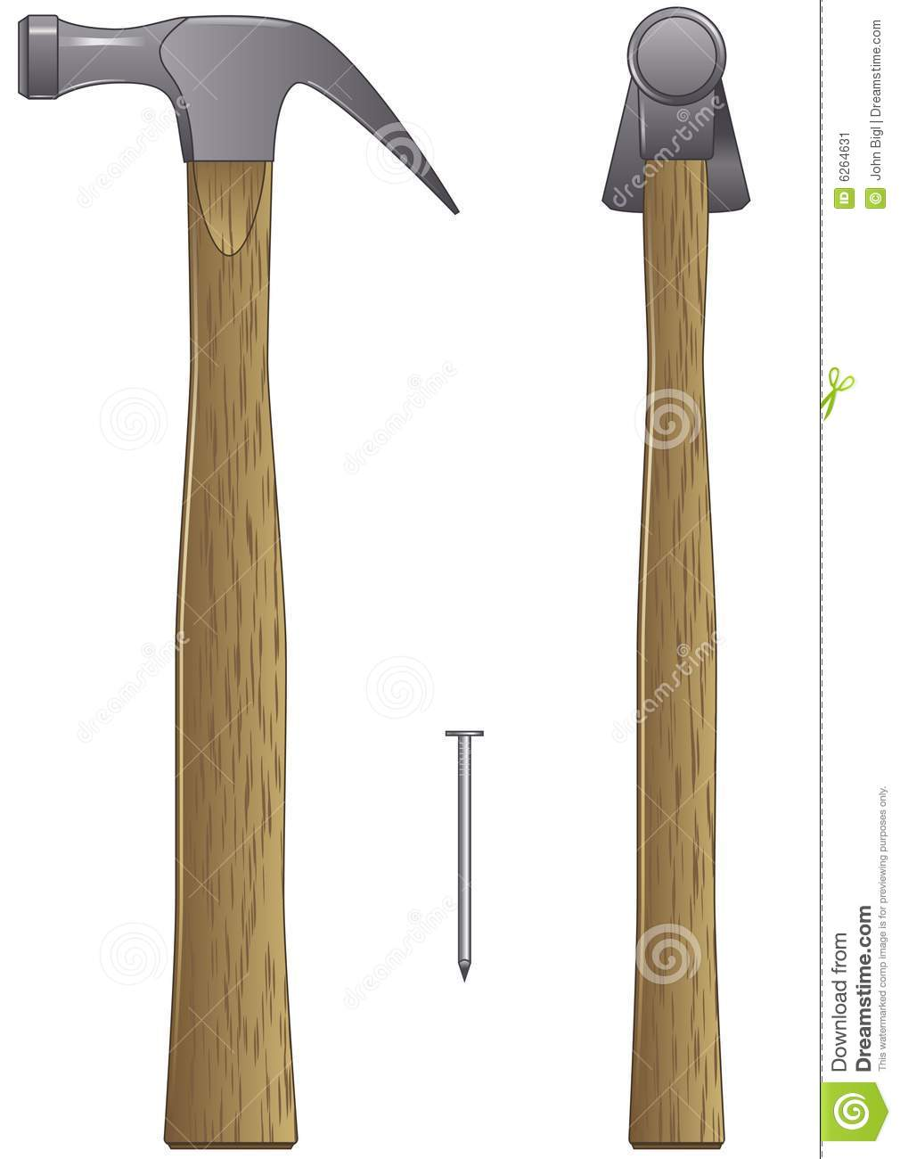 Hammer And Nail Stock Vector Illustration Of Woodworking 6264631