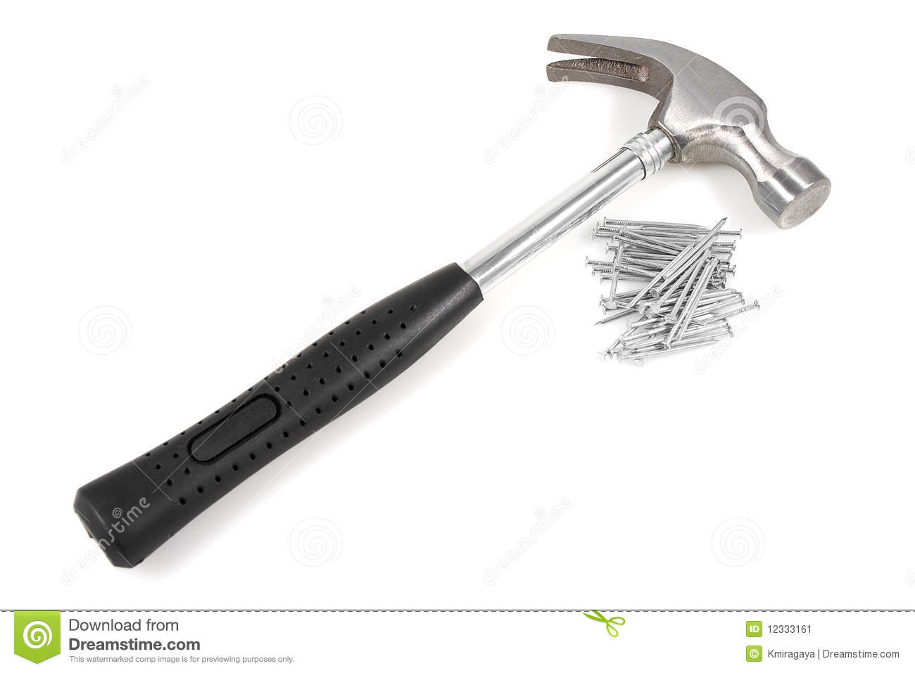 Hammer And Nails On A ...