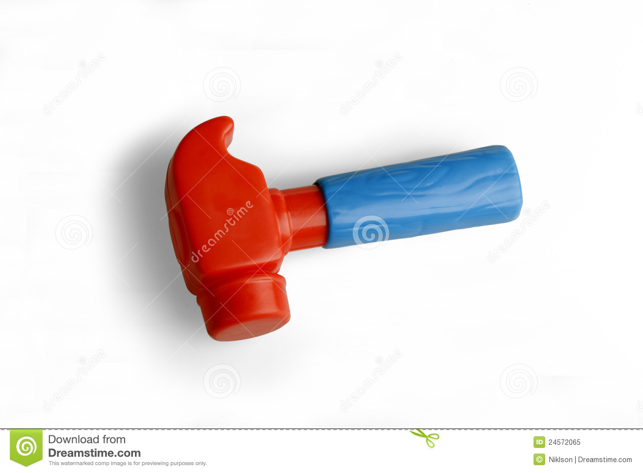Hammer, A Plastic Toy Royalty Free Stock Photo - Image: 24572065