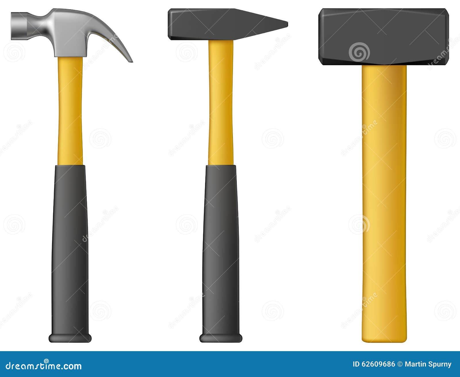 Vector Illustration Hammer: Hammer Stock Vector
