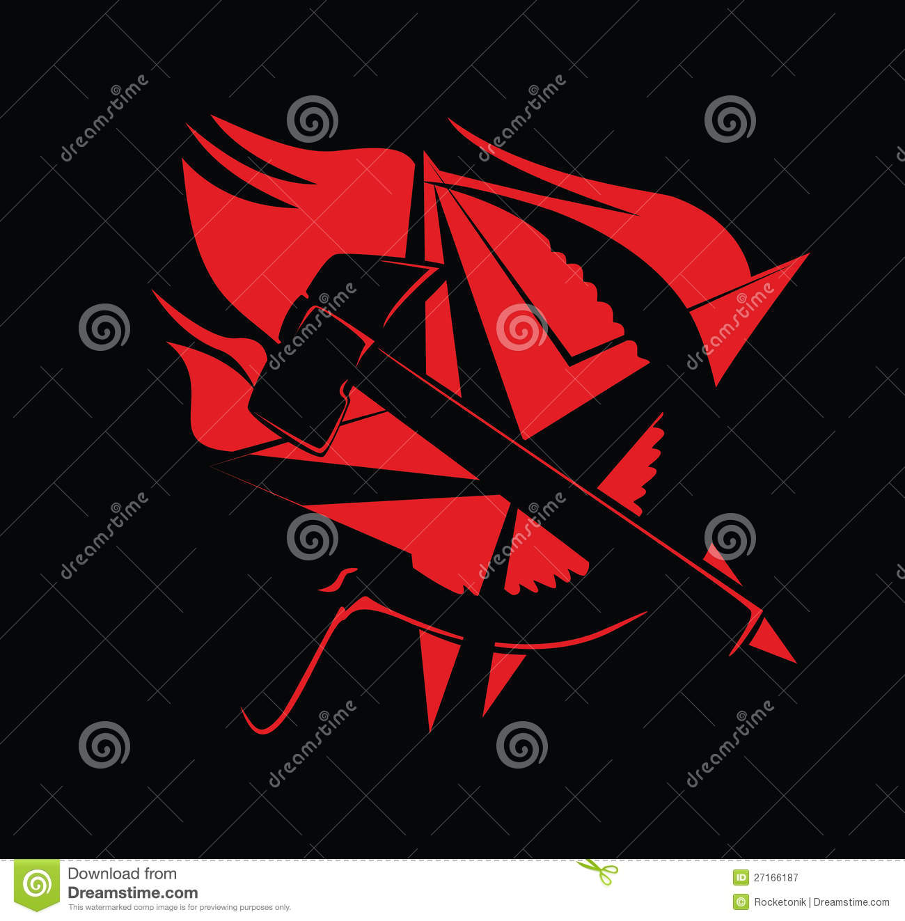 Hammer and sickle communism symbol red on black stock vector hammer and sickle communism symbol red on black biocorpaavc Gallery