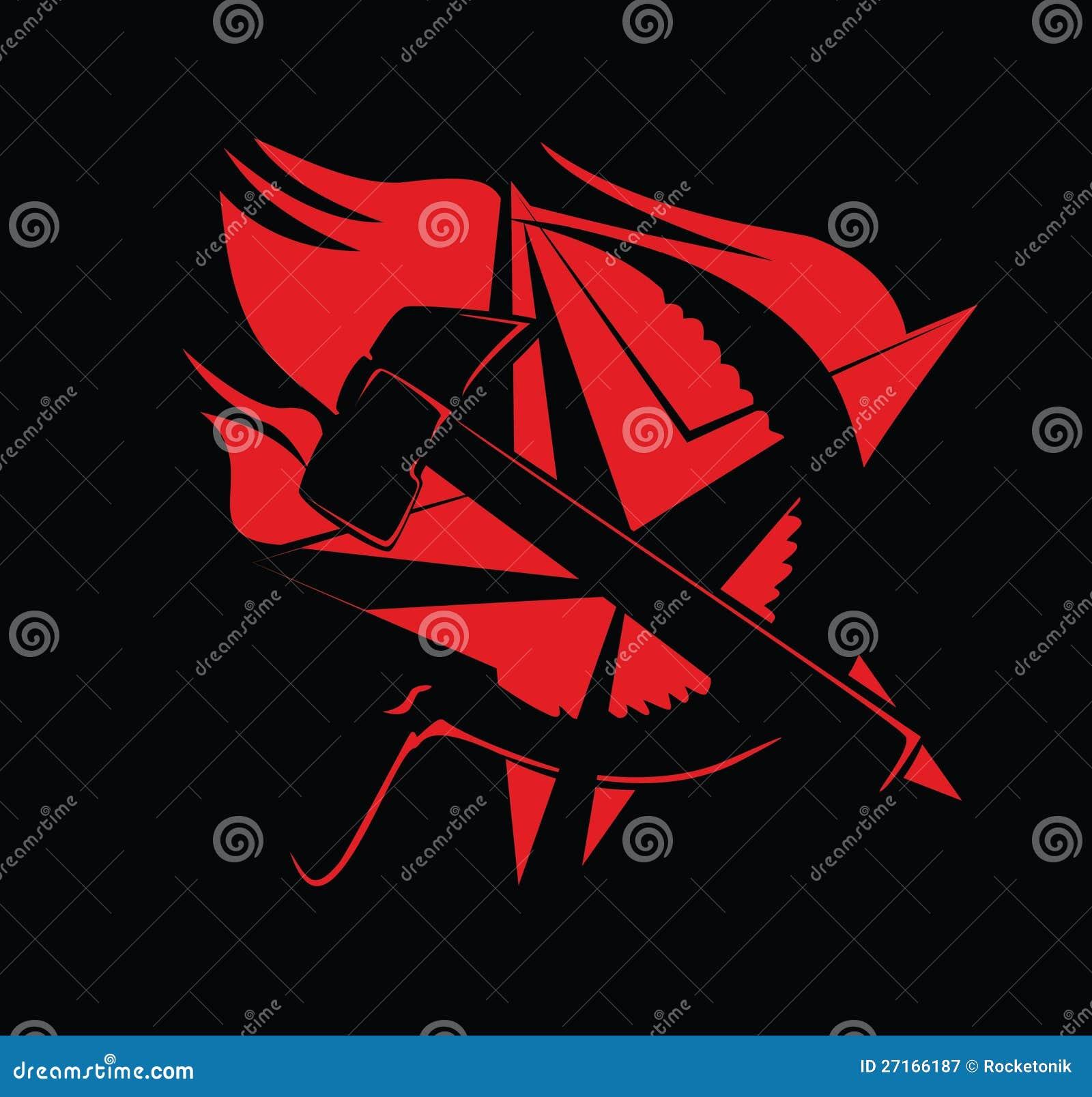 Communist Symbol Star Communism Symbol Red on