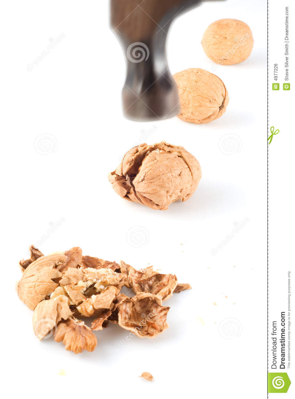 Hammer to crack nuts I stock photo  Image of force