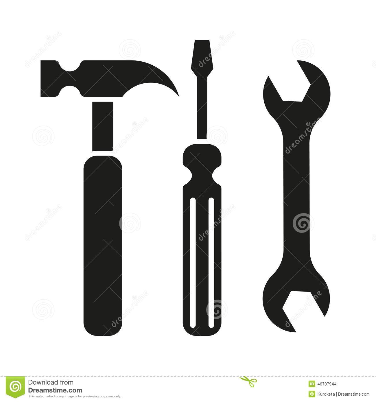 Hammer turnscrew tools icon