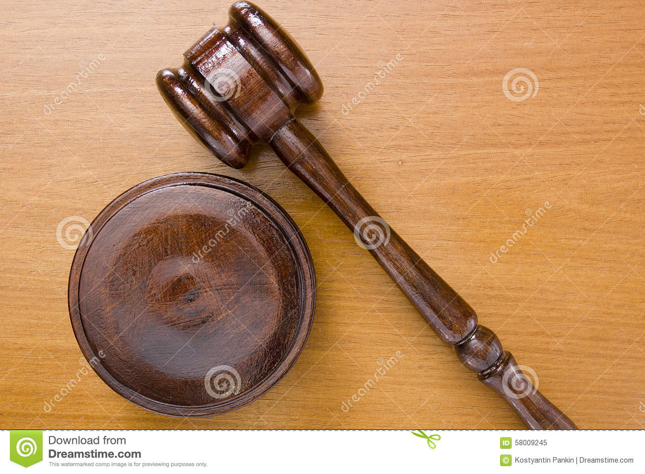 Hammer Used In Court Stock Photo - Image: 58009245