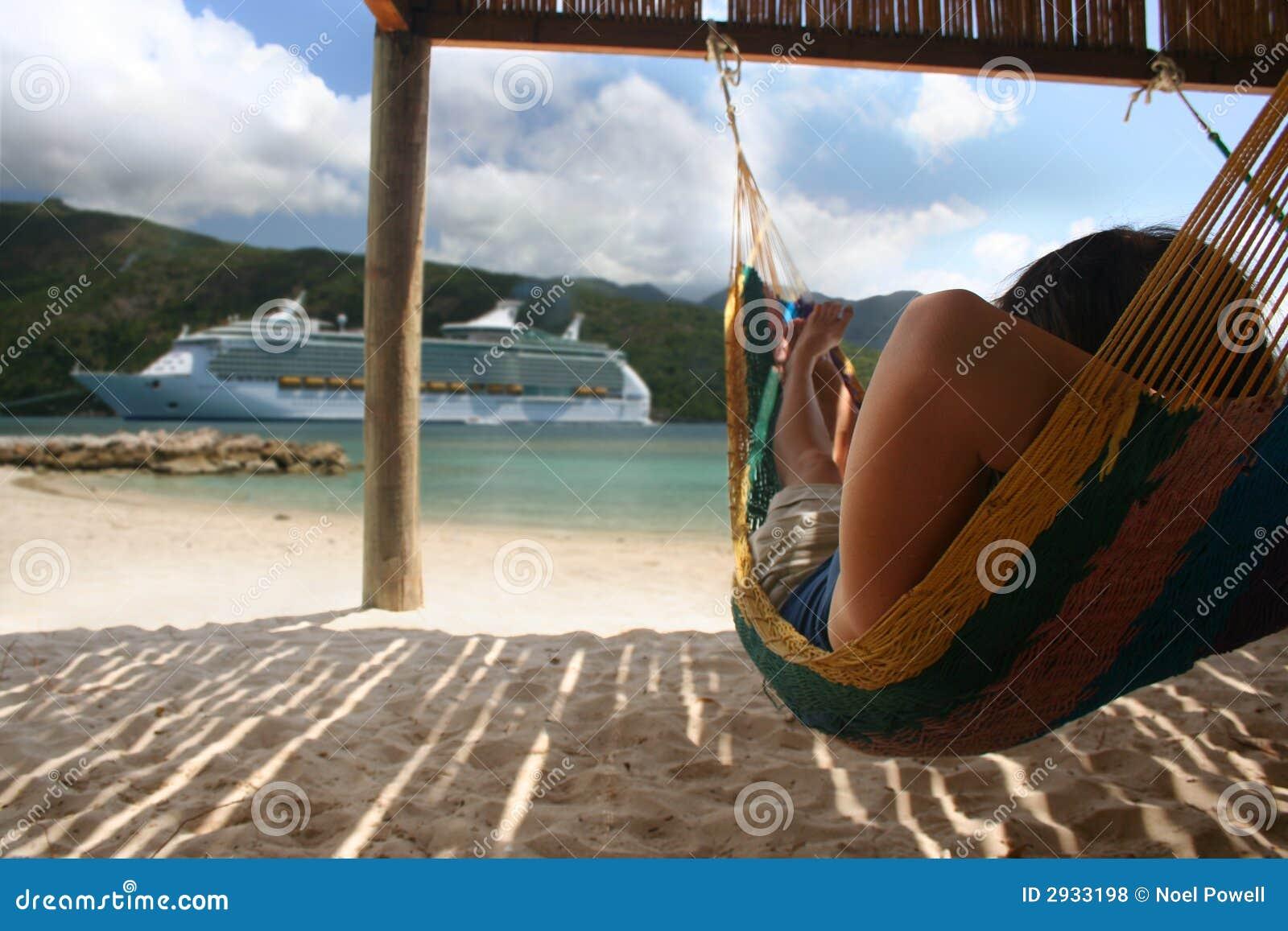 Hammock And Cruise Ship Royalty Free Stock Photos Image