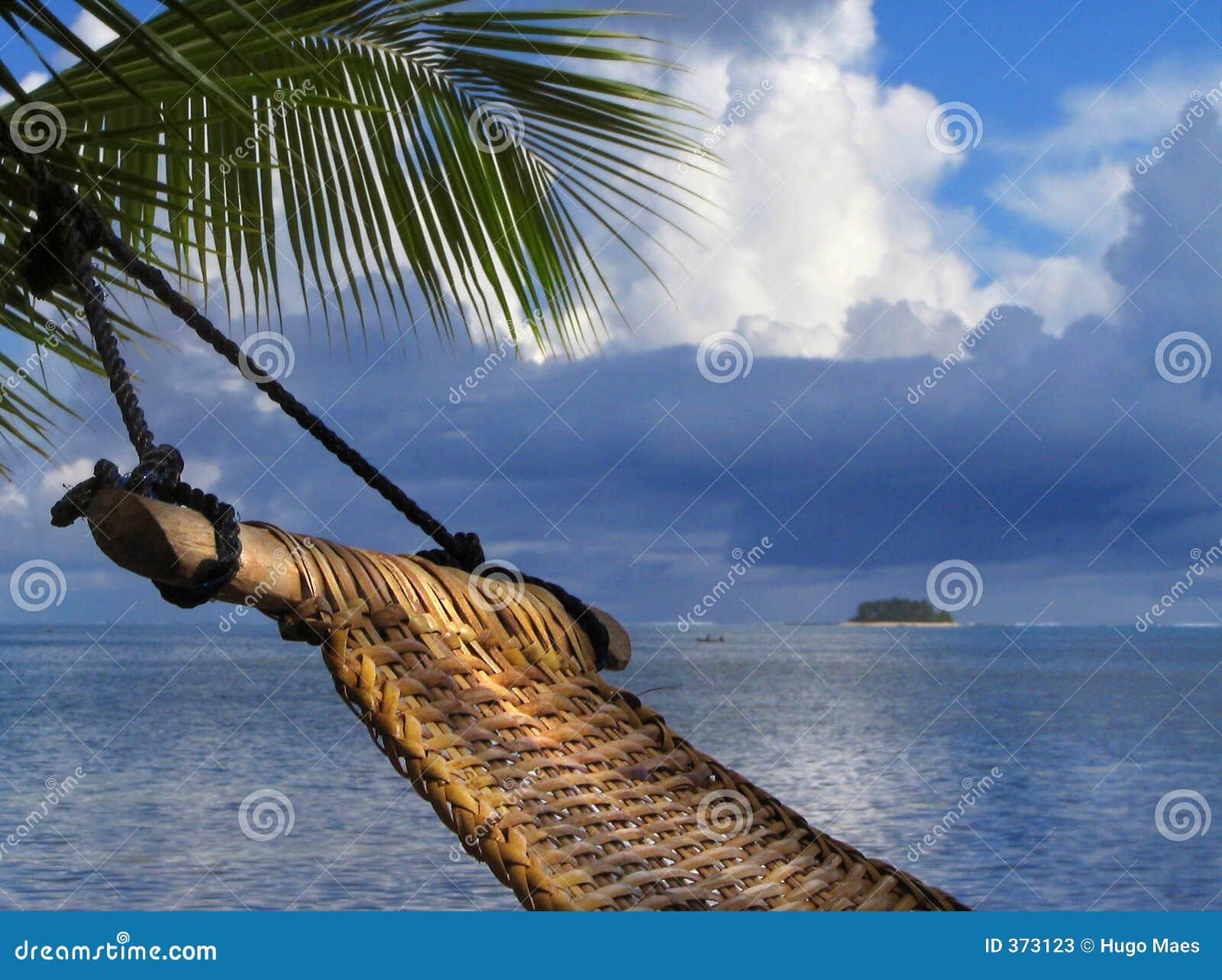 Hammock na praia tropical