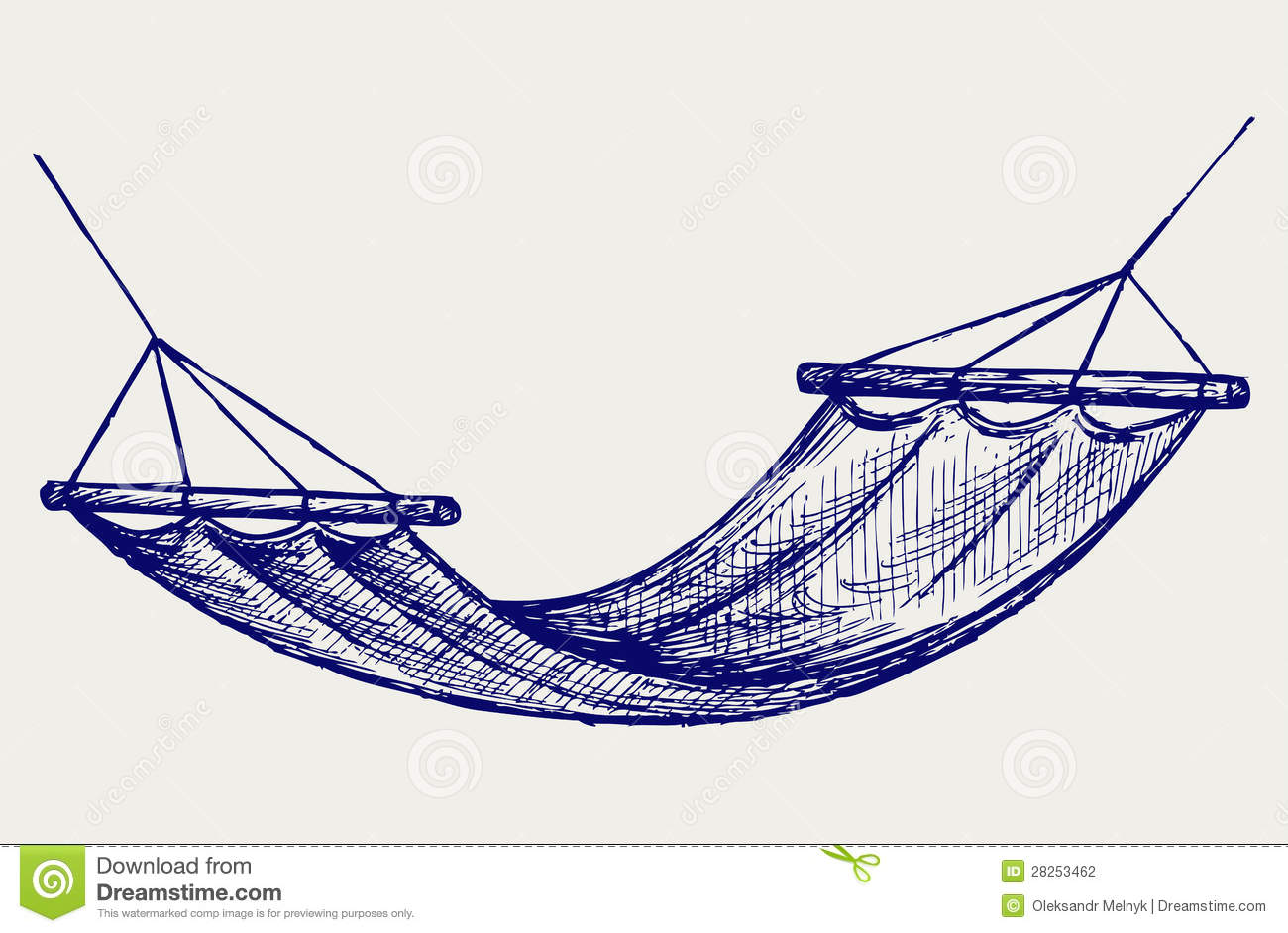 Hammock Suspension Device For The Rest Stock Vector Illustration