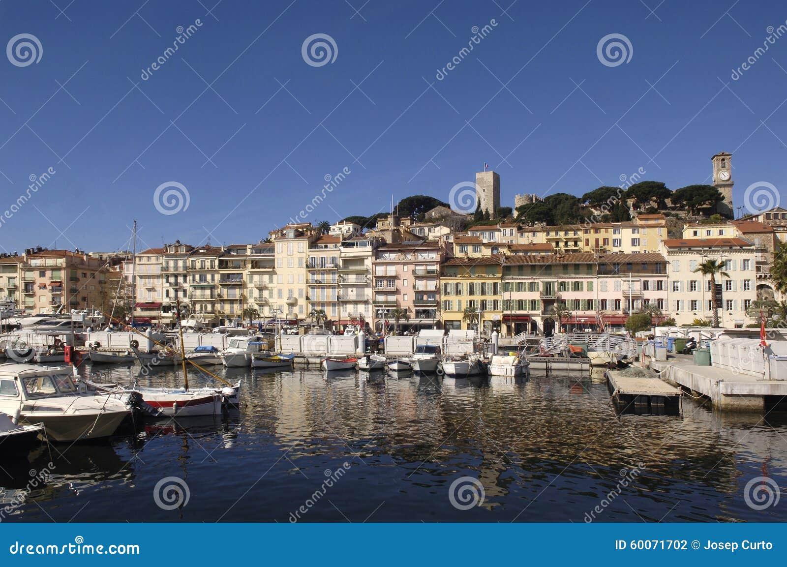 Hamn av Cannes, franska Riviera,