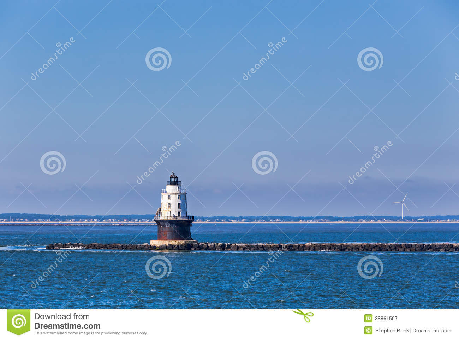 Hamn av fristadljusfyren i den Delaware fjärden