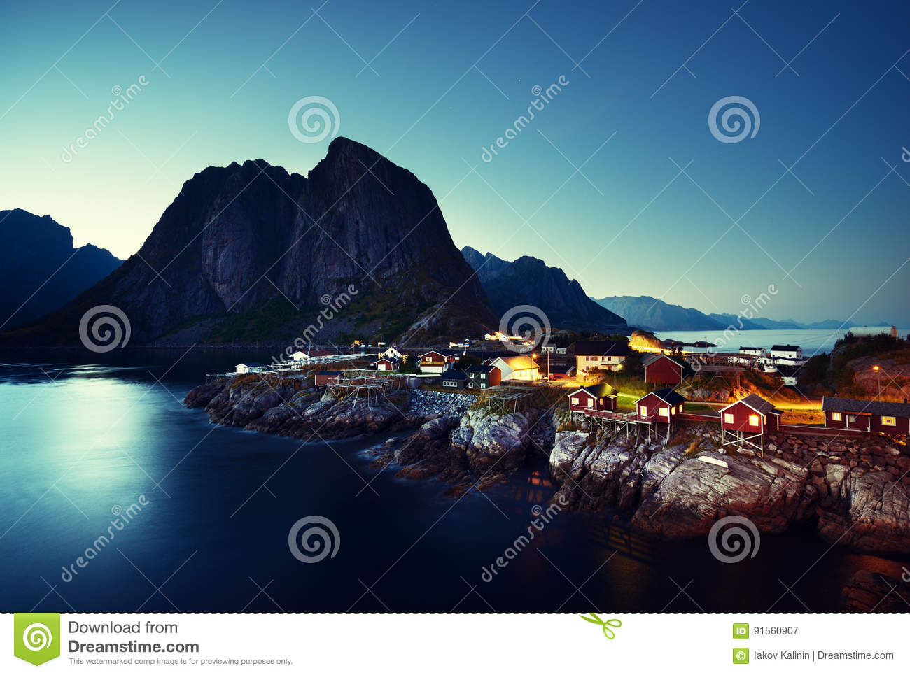Hamnoy Night Royalty-Free Stock Photography ...