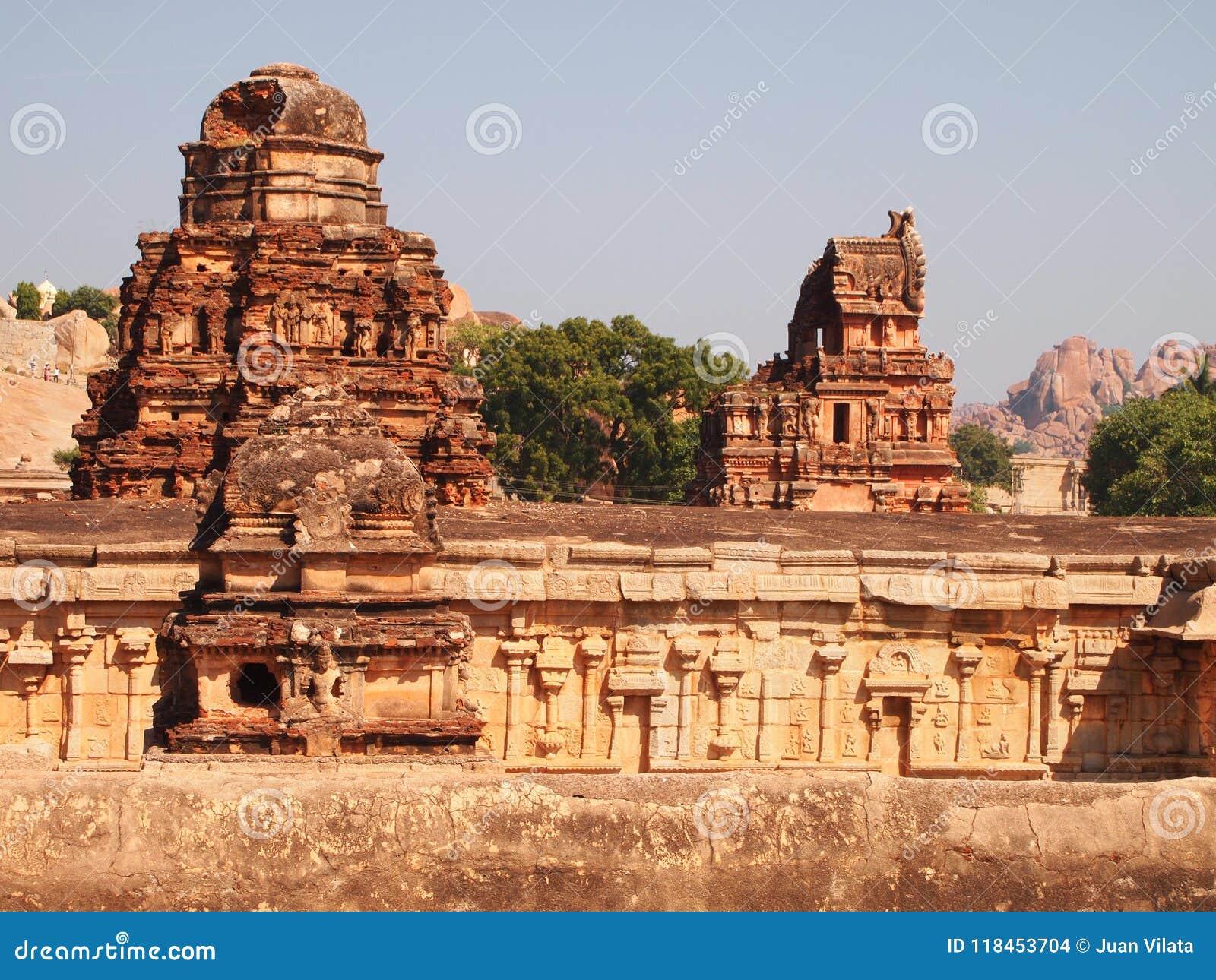 Hampi świątynny kompleks, UNESCO światowego dziedzictwa miejsce w Karnataka, India