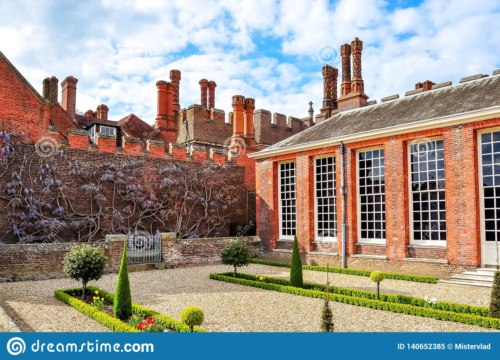 Hampton Court Palace a Richmond, Londra, Regno Unito